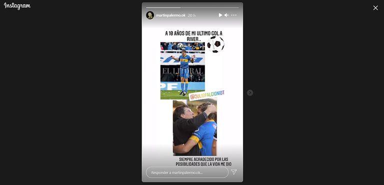 Superclásico: Palermo recordó una gloriosa tarde y mandó un especial saludo