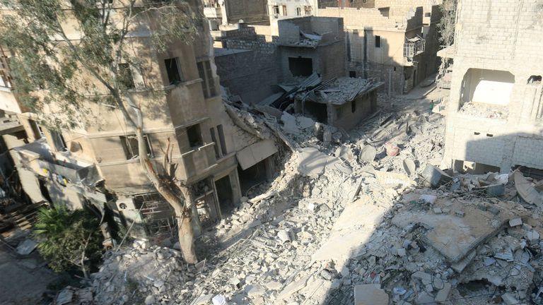 Así quedo la cuadra donde vivía Omran y su familia