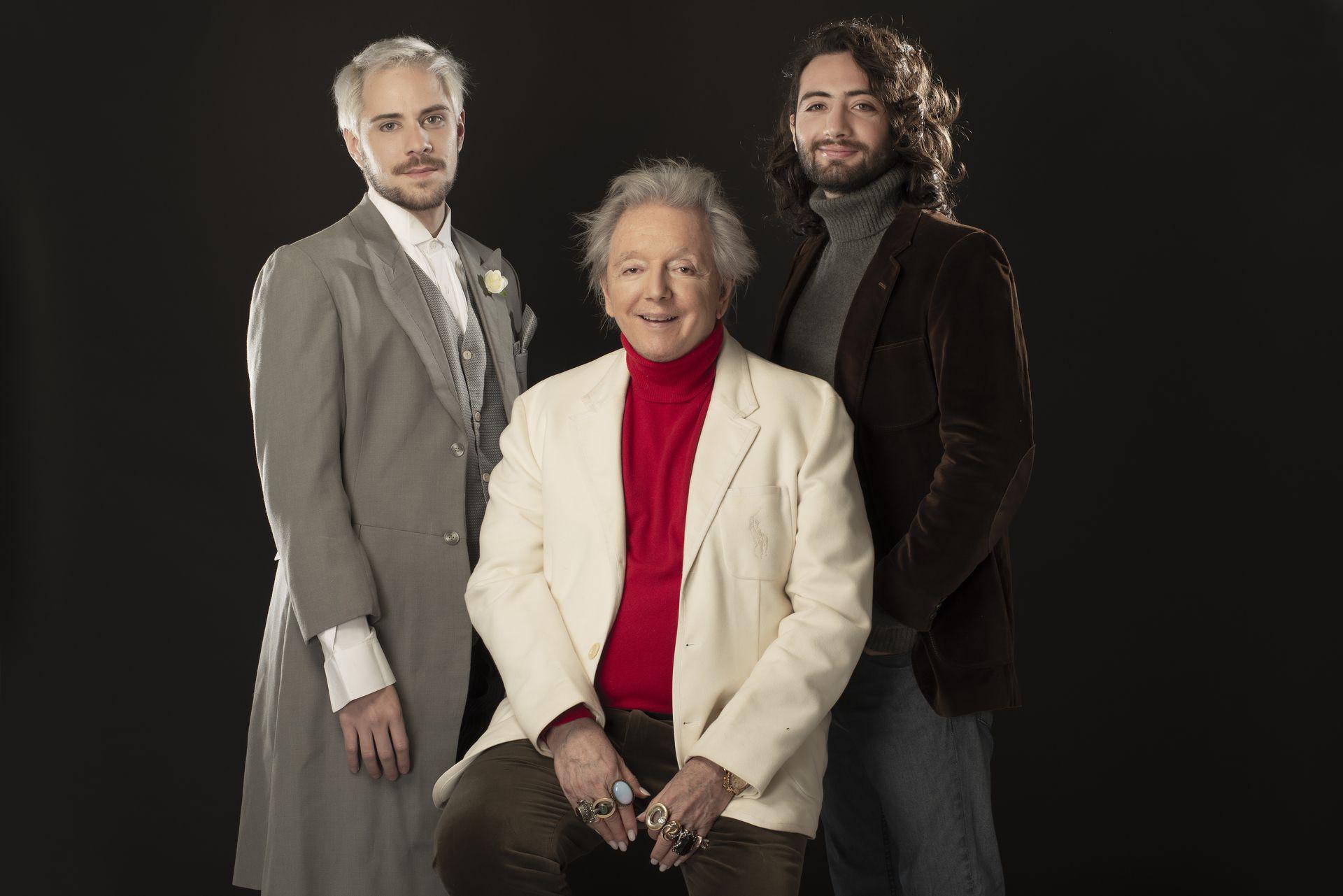 Pepe Cibrián, junto con Maximiliano Airieto y Luis Machuca, protagonistas de su nuevo musical, Infierno blanco