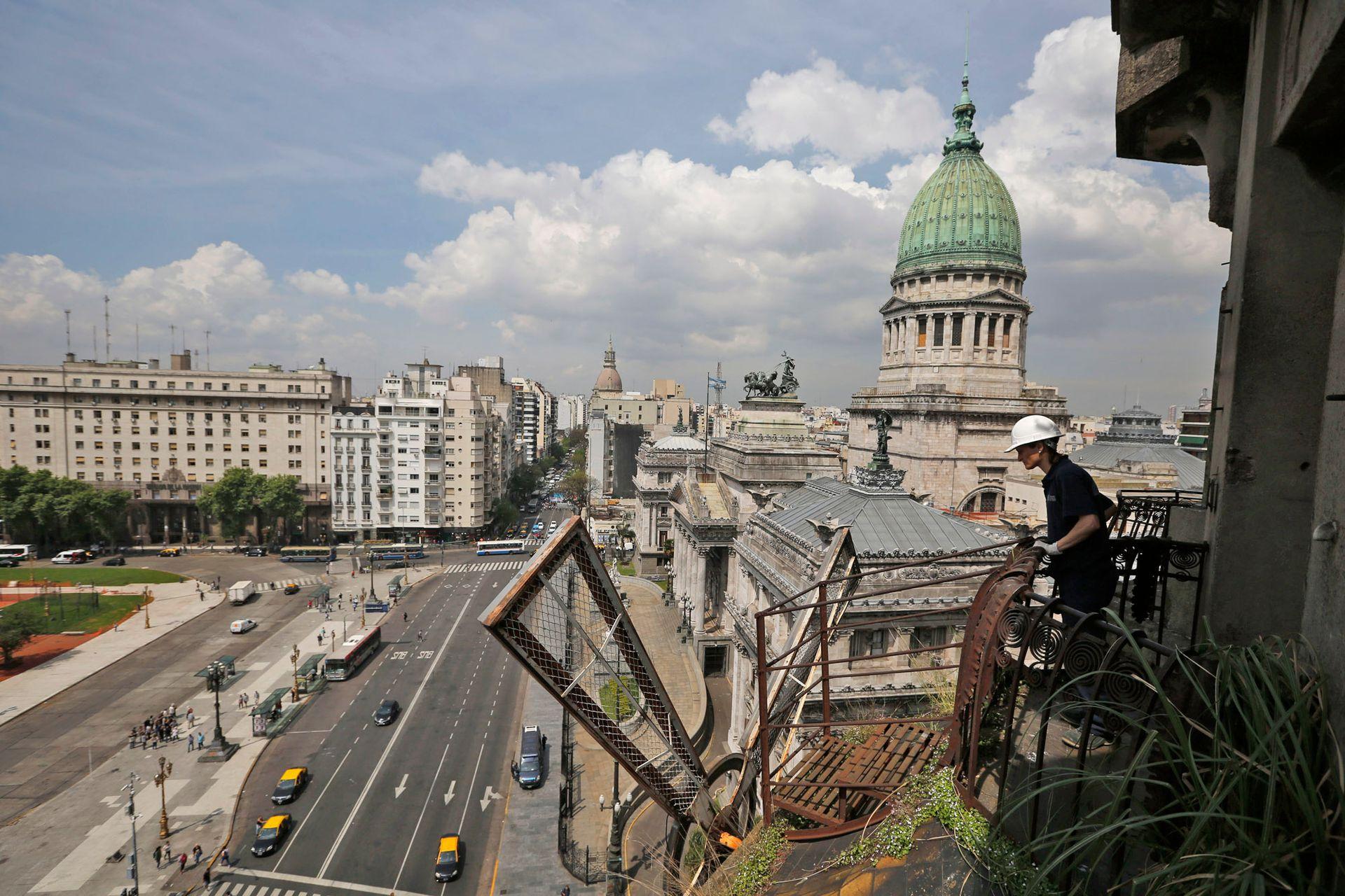 La vista de avenida Entre Rios