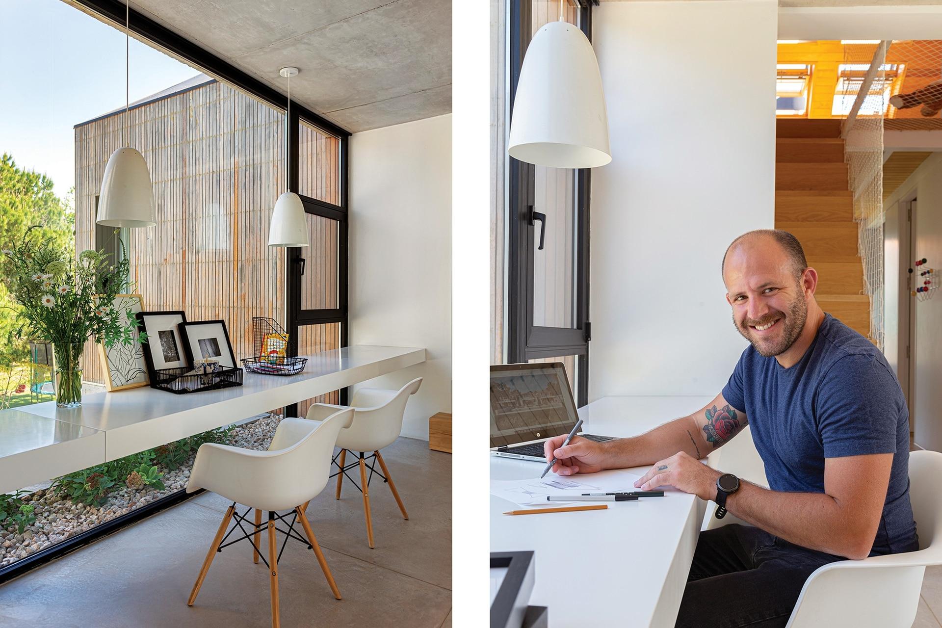 Lucas Muñoz fundó en 2017 el estudio de arquitectura LAK, luego de pasar 12 años en otra firma, desarrollando proyectos tanto comerciales como de viviendas. Hoy, se dedica por completo al diseño y construcción de casas, en las que explora la convivencia de distintos materiales.