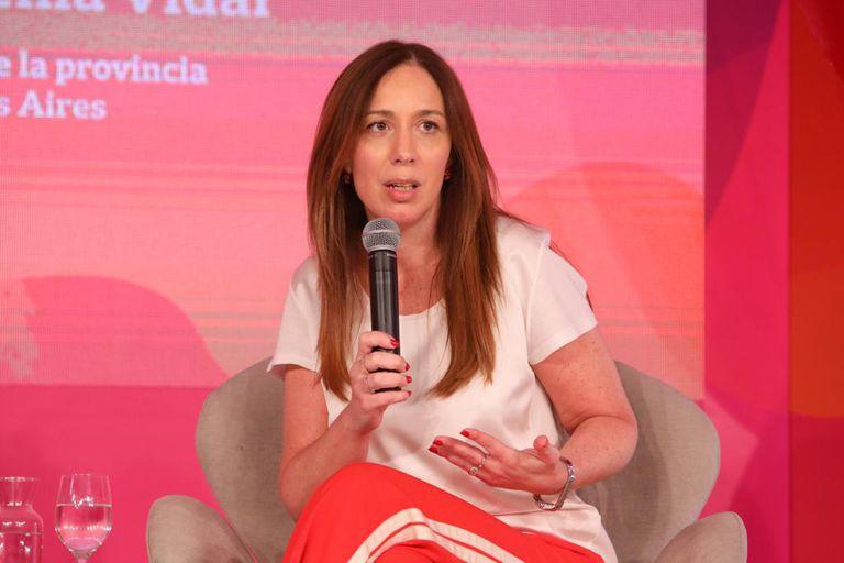 La gobernadora María Eugenia Vidal es entrevistada por José Del Rio, secretario general de Redacción de LA NACION