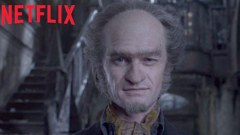 Neil Patrick Harris en el papel del conde Olaf