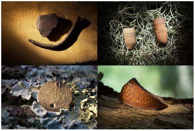 Algunos de los objetos encontrados en las excavaciones de la zona de Hatteras