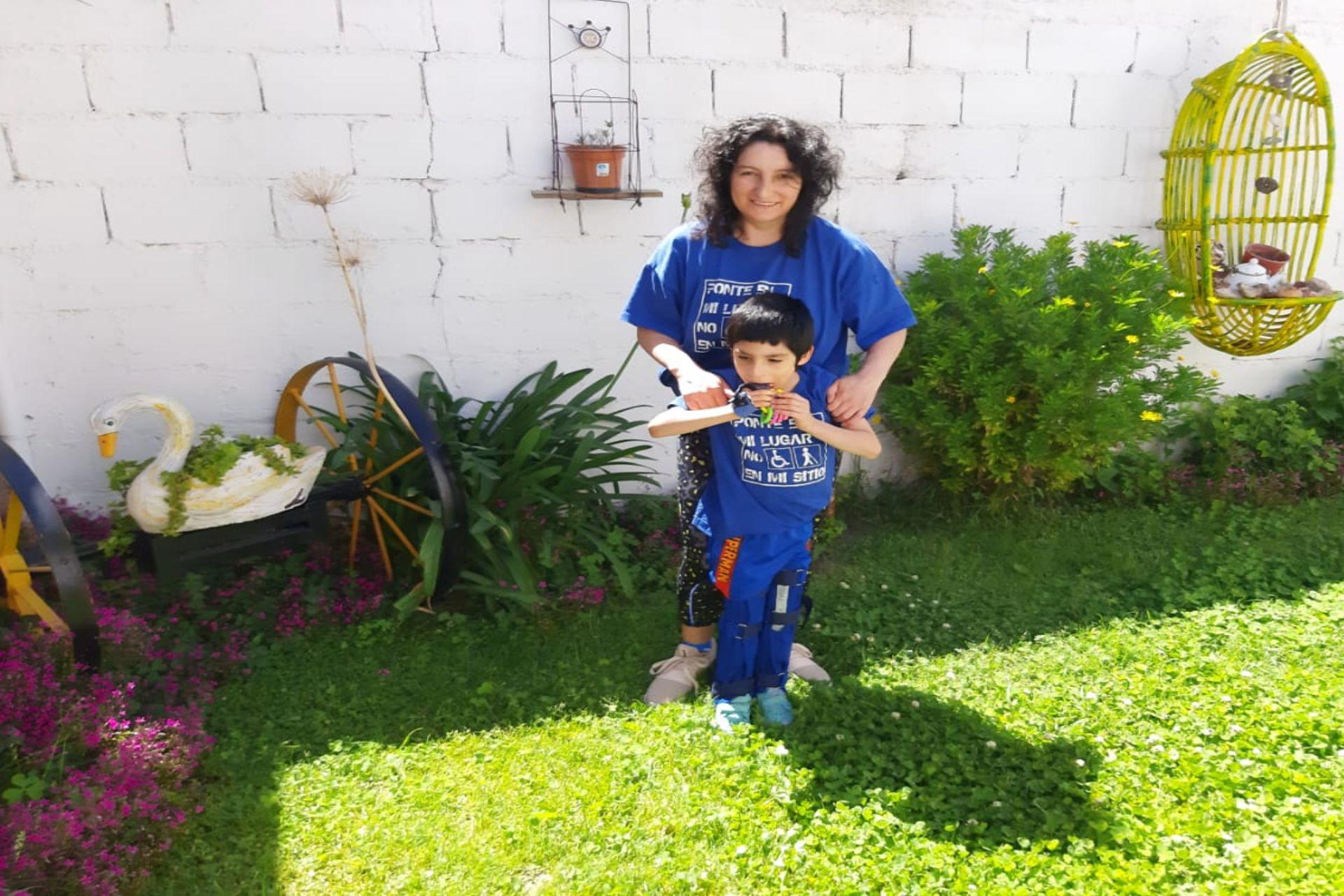 """""""Gonzalito"""" y su mamá, Adriana"""