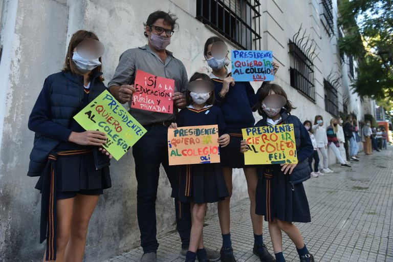Algunos carteles, en el Michael Ham, fueron dirigidos al presidente de la Nación, Alberto Fernández