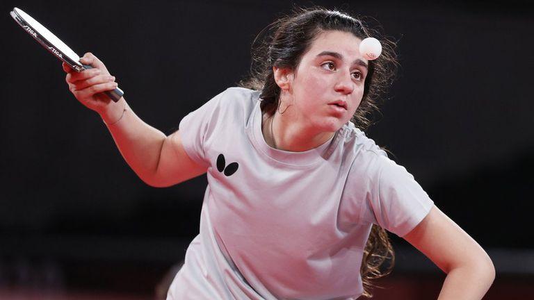 La atleta siria de tenis de mesa Hend Zaza, de 12 años, fue la competidora más joven en los Juegos.