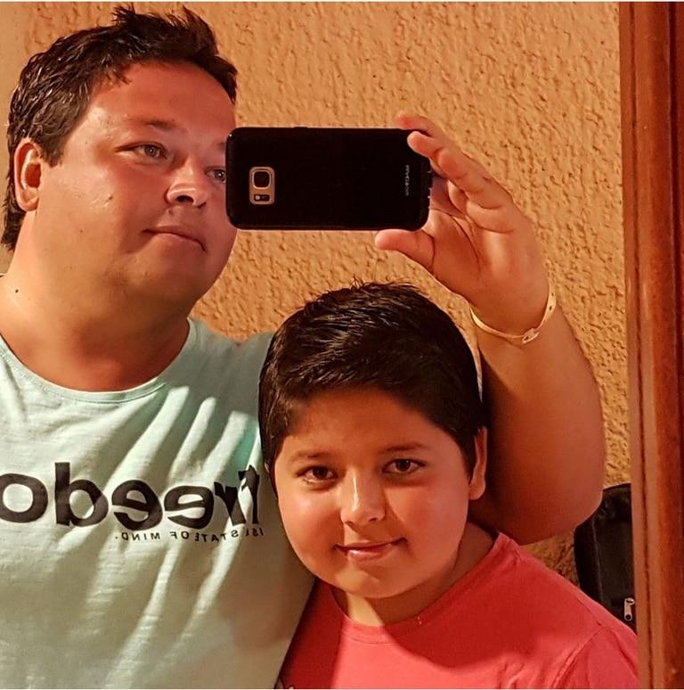 El empresario Sebastián Granado y su hijo