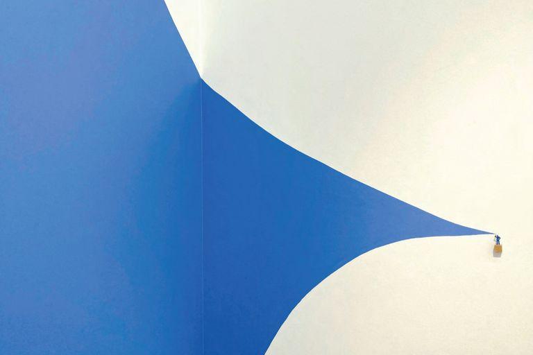 """Detalle de una de las obras de """"Cepillo rojo y otras situaciones"""", su décima muestra individual en la galería Sicardi-Ayers-Bacino"""