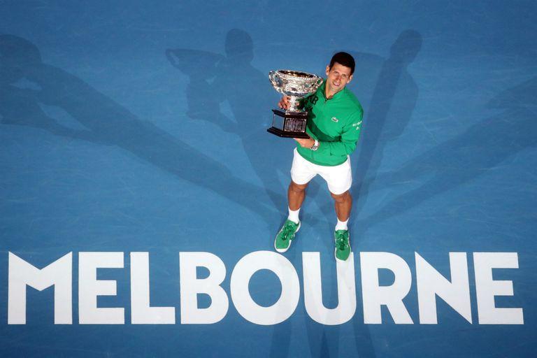 Djokovic, como local en Melbourne: el serbio convirtió el abierto australiano en su torneo favorito