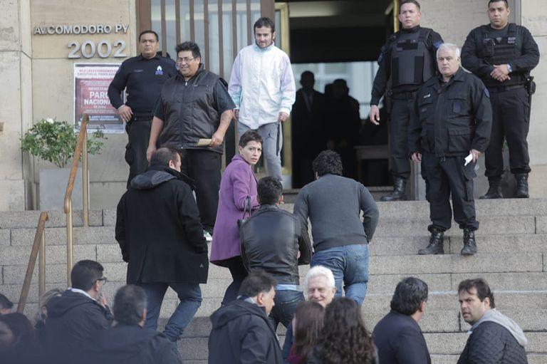 Mayra Mendoza al llegar a Comodoro Py