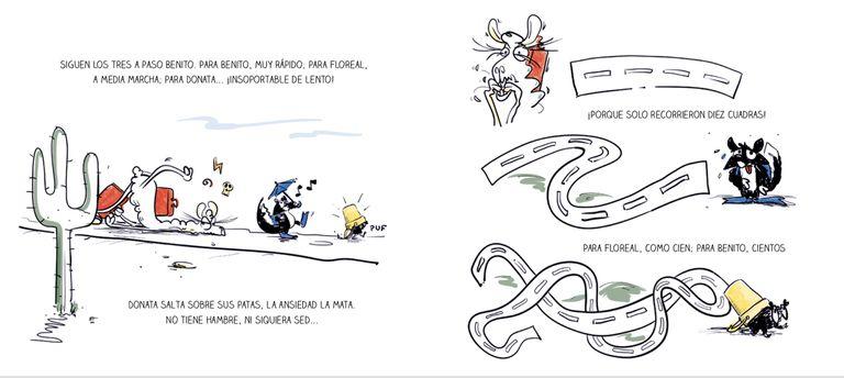 """Ilustraciones de Cucho Cuño para """"Vacaciones"""", con texto de Silvina Rocha"""