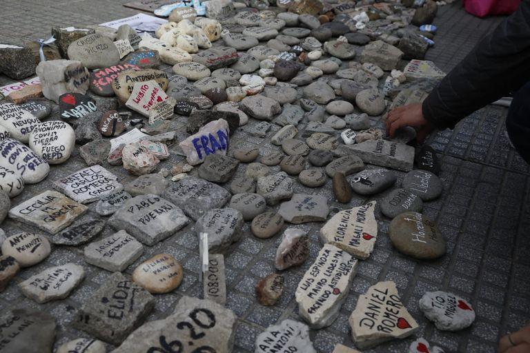 Marcha de la piedras en Plaza de Mayo