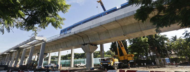 Viaducto Mitre: avanza la construcción de la estación Lisandro de la Torre