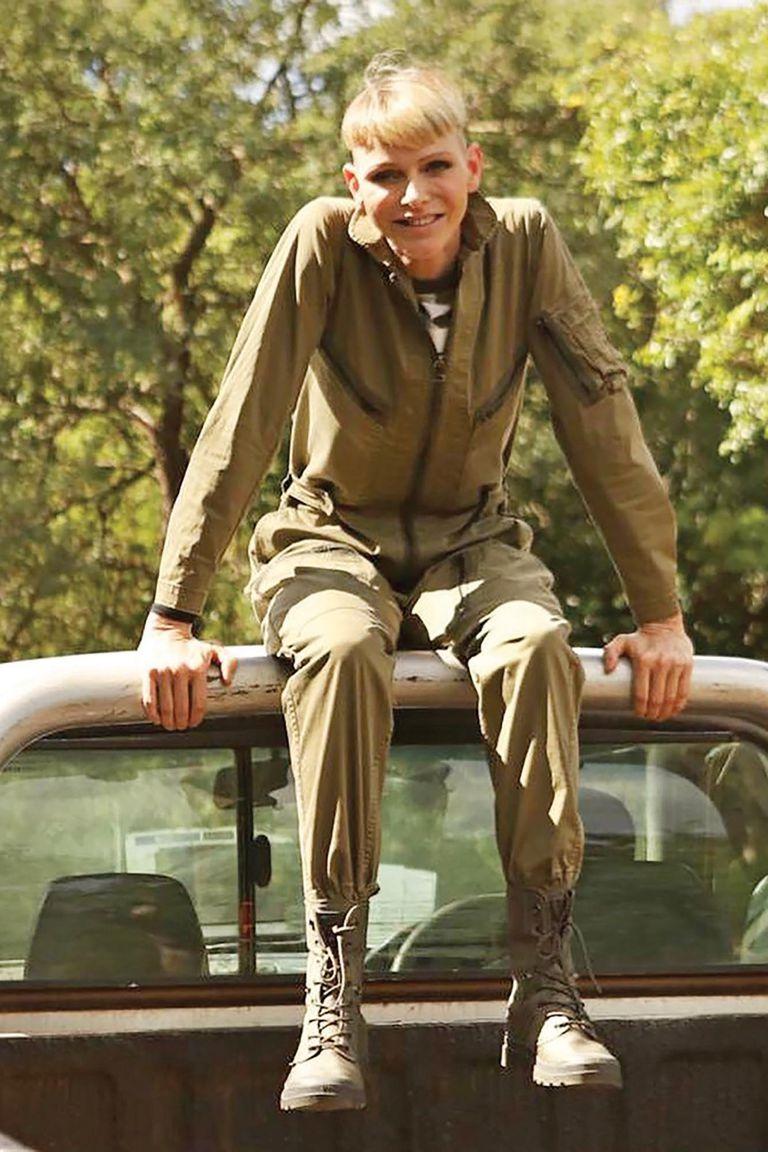"""""""Me puse en contacto con personas increíbles y hablé con rastreadores locales y unidades de lucha contra la caza furtiva, todos ellos con una increíble pasión por la protección de nuestros rinocerontes y nuestro medio ambiente"""", explicó la mujer de Alberto de Mónaco"""