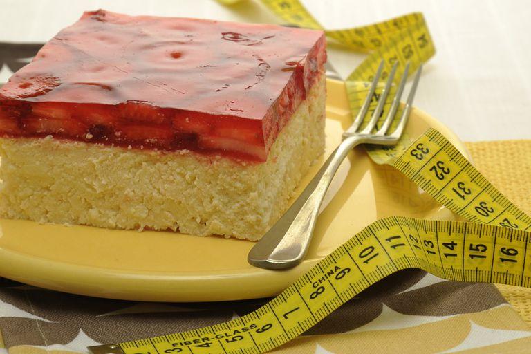 Torta de queso y frutillas light