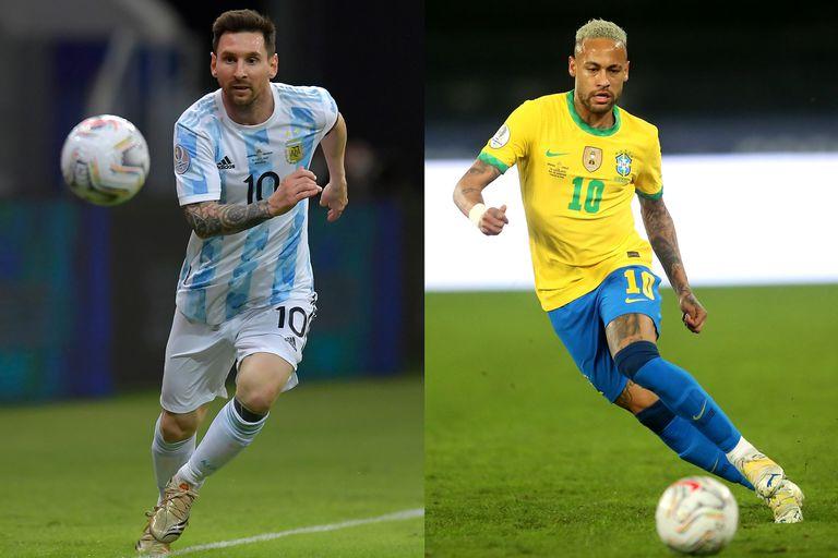 Lionel Messi y Neymar Jr. serán dos de las figuras en la final Argentina - Brasil de la Copa América.