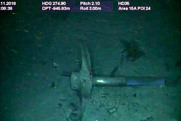 La hélice del submarino