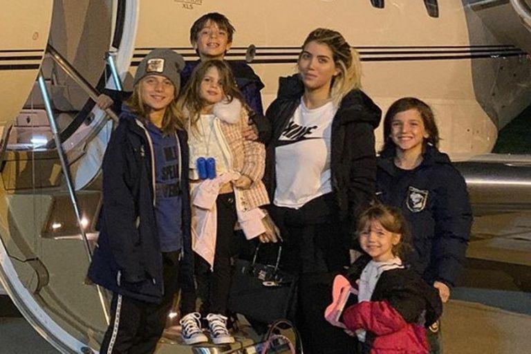 En medio de la pandemia, Wanda Nara y Mauro Icardi volvieron a Italia