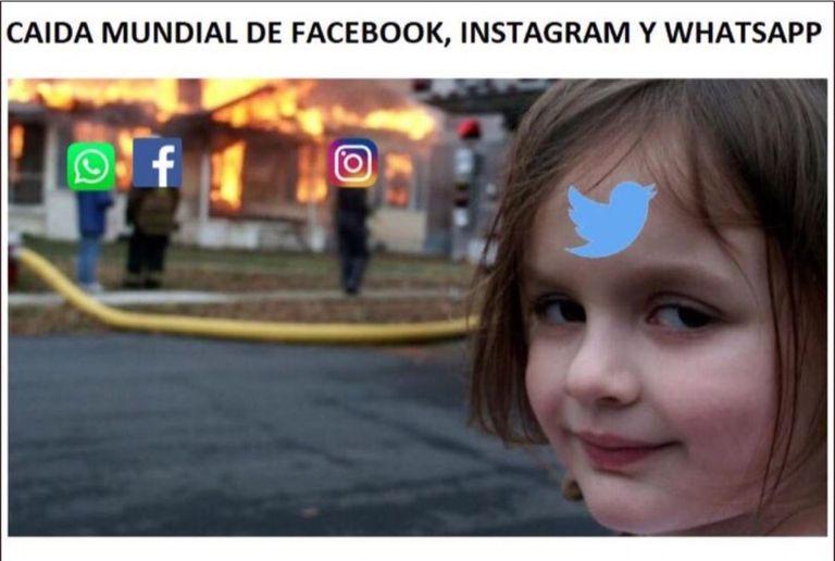 Los memes sobre la caída masiva de WhatsApp se multiplicaron en Twitter, una plataforma que quedó a salvo del colapso