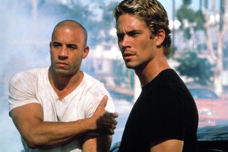 Vin Diesel y el fallecido Paul Walker, la dupla inicial de la saga fierrera