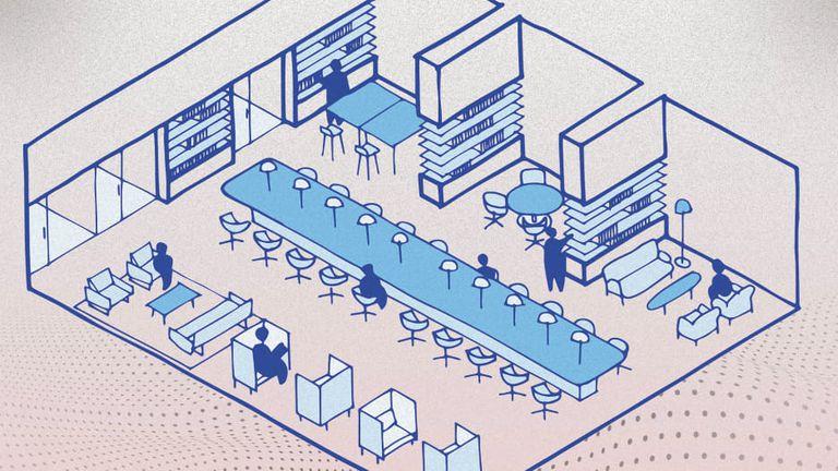 Nuevas oficinas: deben tener una gran cocina, pasillos con livings y  biblioteca