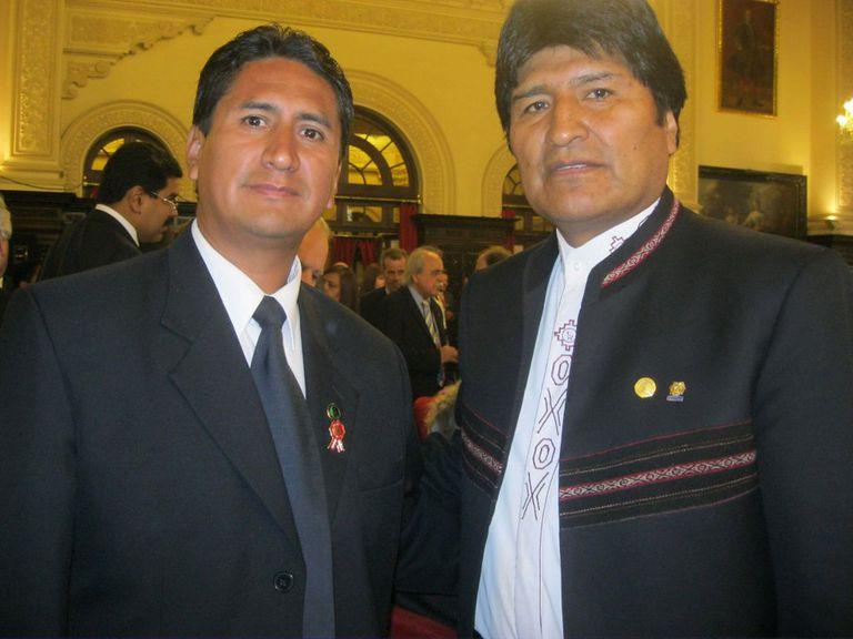 Vladimir Cerrón y Evo Morales