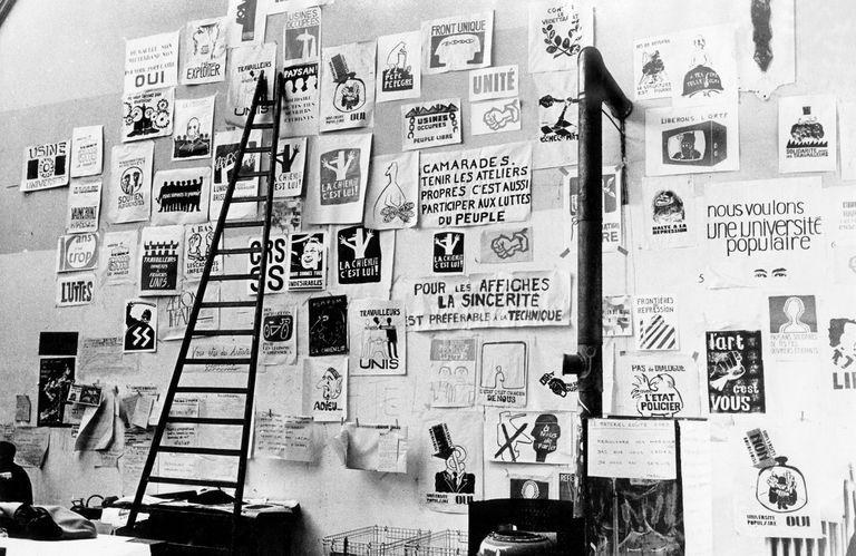 Los argentinos Julio Le Parc y Mario Gurfein evocan la toma de la escuela de Beaux-Arts y el mítico Atelier Popular que convertía en afiches las consignas de la revuelta