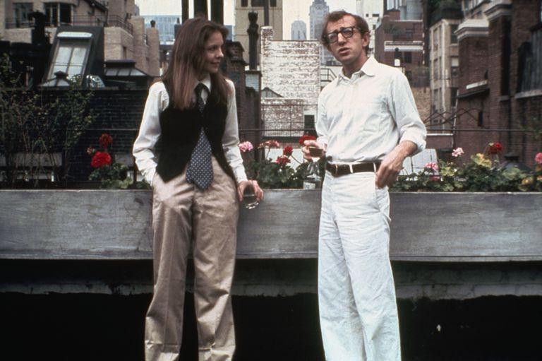 Diane Keaton y Woody Allen en Dos extraños amantes