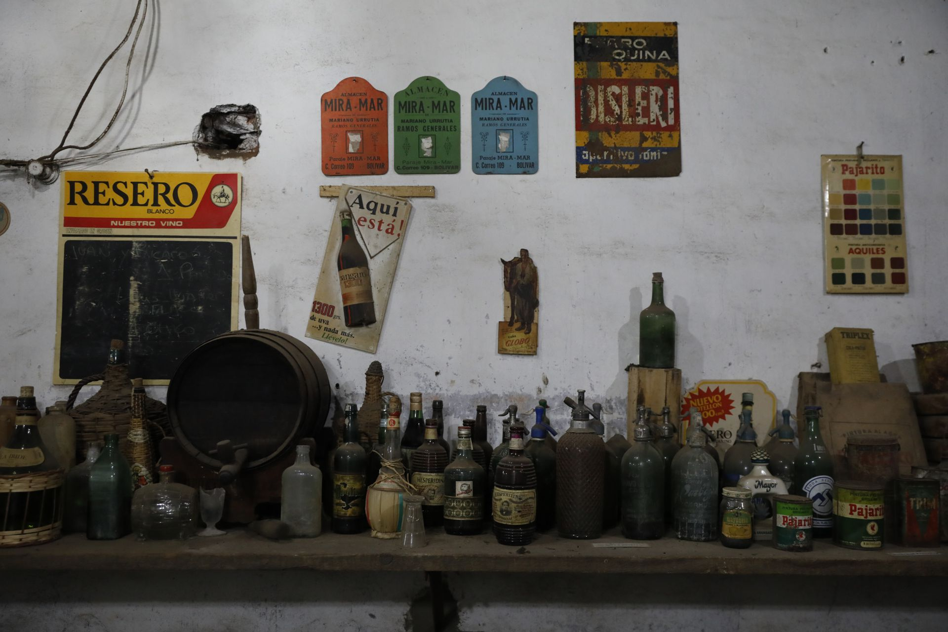 Botellas y sifones que ya son reliquias