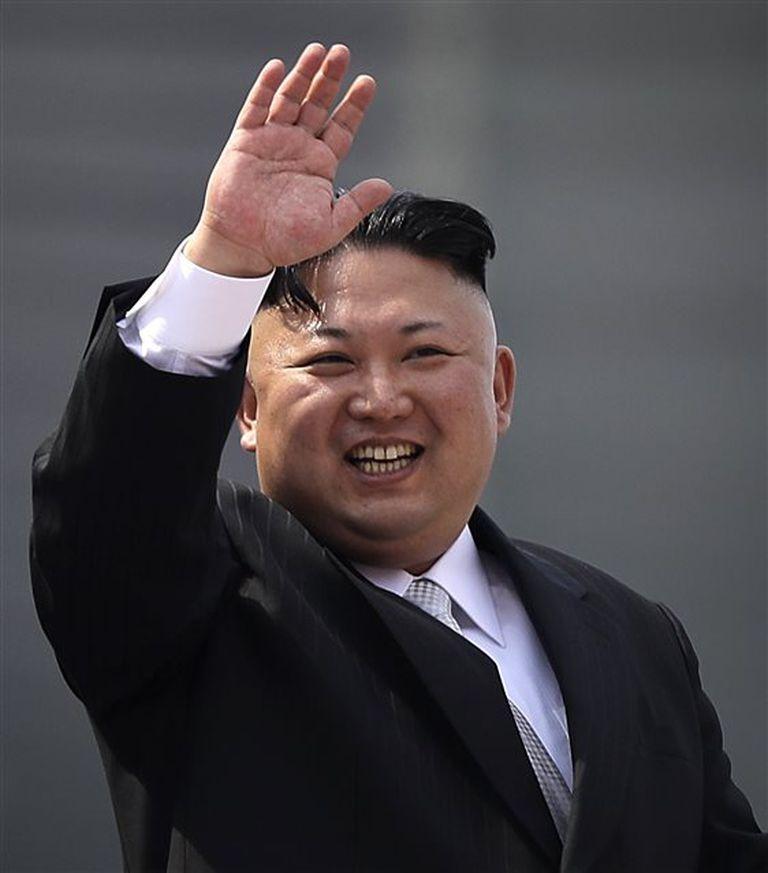 Kim, el fin de semana, durante las ceremonias por el Día del Sol
