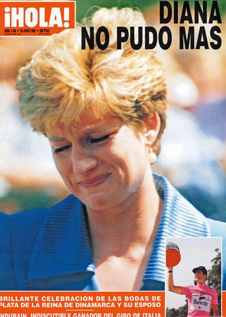 En 1992, la revista ¡Hola! publicó esta tapa luego de que se revelaran detalles del tormentoso matrimonio de Lady Di y Carlos: cinco años después la princesa moriría en París