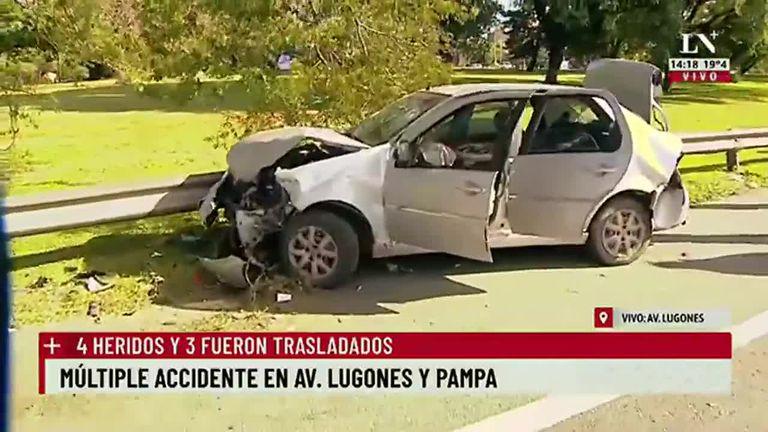 Múltiple accidente en Av. Lugones y La Pampa