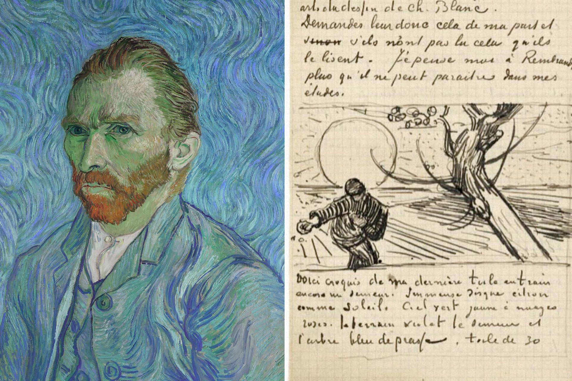 Van Gogh expuso en sus esquelas a Theo visiones estéticas y existenciales.