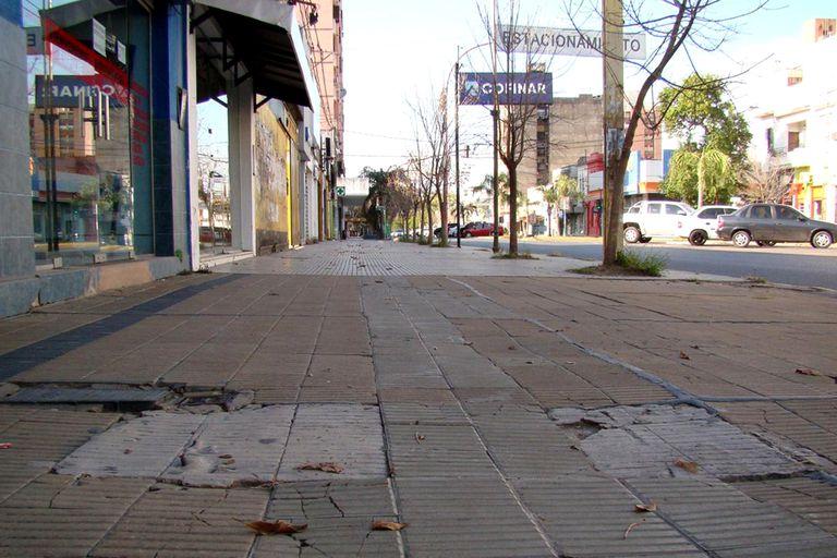 Las calles de Resistencia lucieron vacías