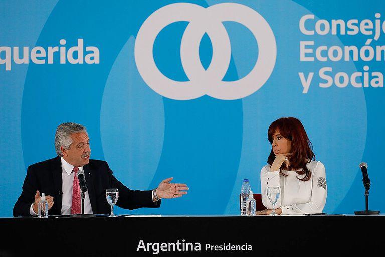 Qué dicen las nubes de palabras de Alberto Fernández y Cristina Kirchner