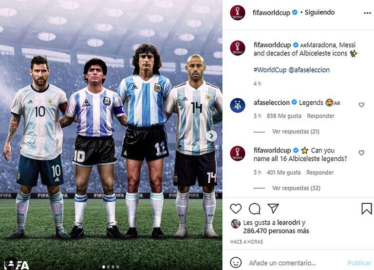 """La FIFA eligió a los 16 """"íconos"""" de la Selección y estallaron los reclamos en las redes"""