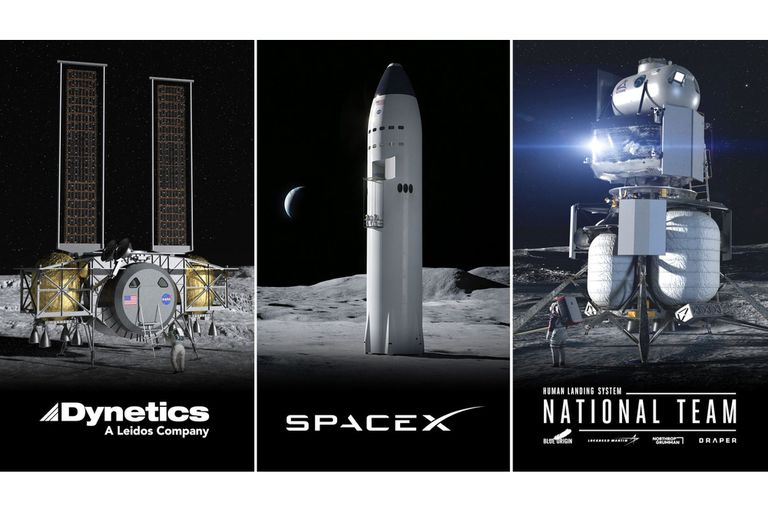 Los tres diseños iniciales con los que la NASA planea volver a la Luna; deberá combinar tecnologías para encontrar la mejor opción