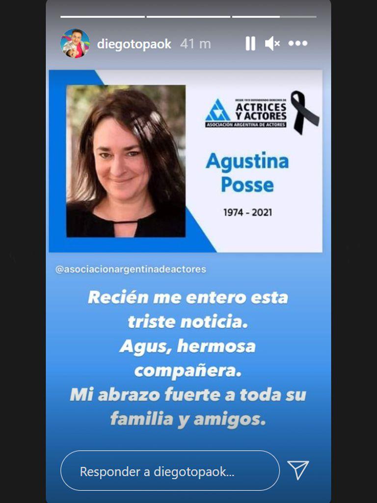 La despedida a Agustina Posse en las redes