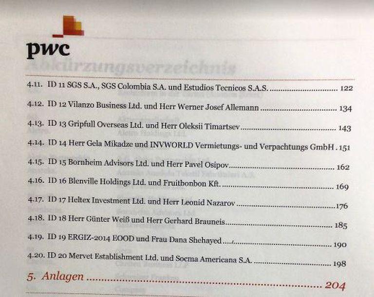 El informe de PwC que revela irregularidades en el Meinl Bank de Austria; la relación con Socma ocupa un apartado especial de varias páginas