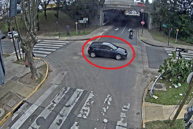 El vehículo de los sospechosos detectados por los operadores de las cámaras de seguridad de Vicente López