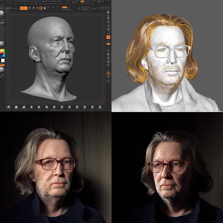 El paso a paso en el retrato de Eric Clapton