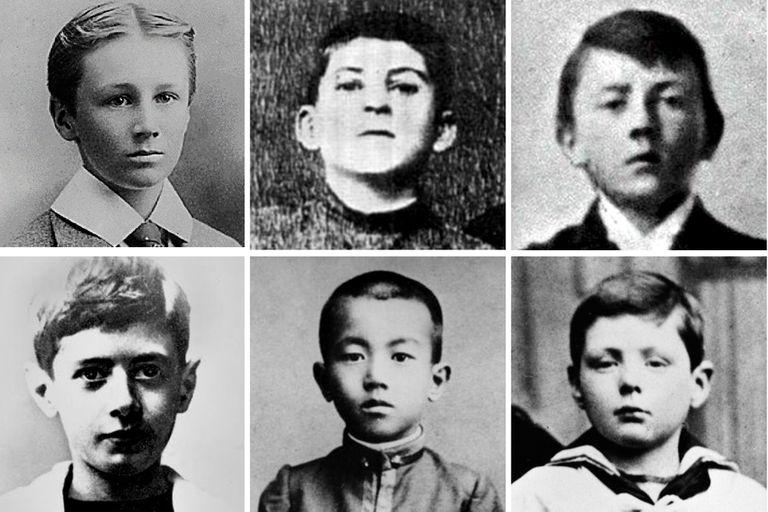 Franklin Roosevelt, Iosif Stalin, Adolf Hitler, Charles De Gaulle, el emperador Hirohito y Winston Churchill