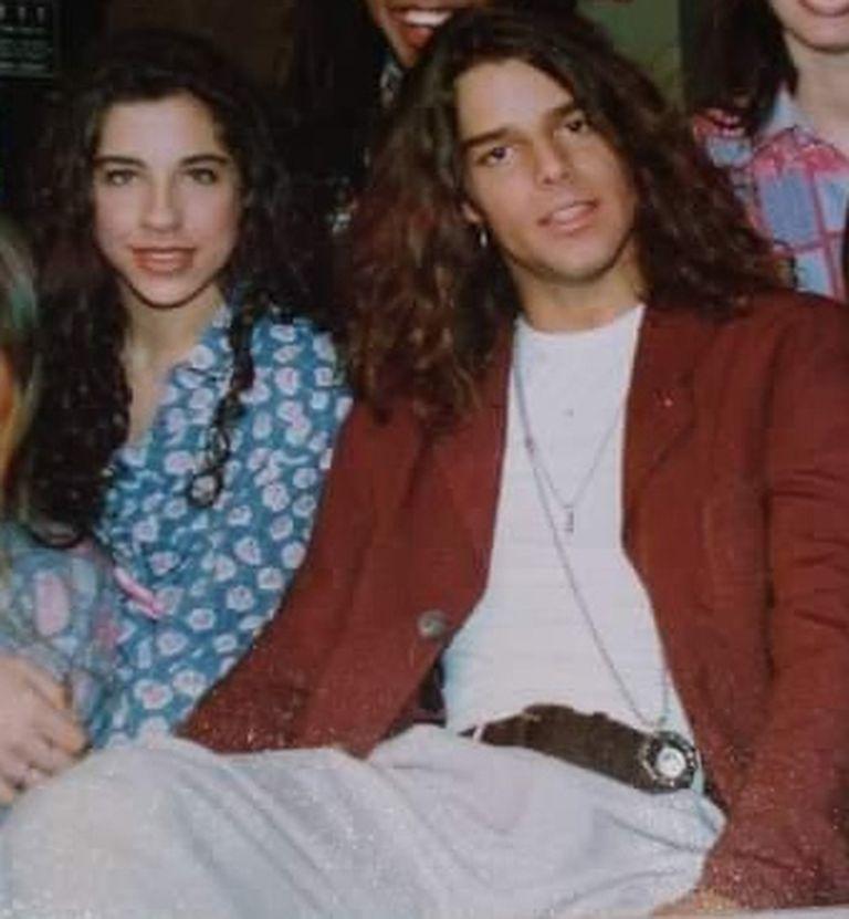 Gisela Rietti junto a Ricky Martin en 1992