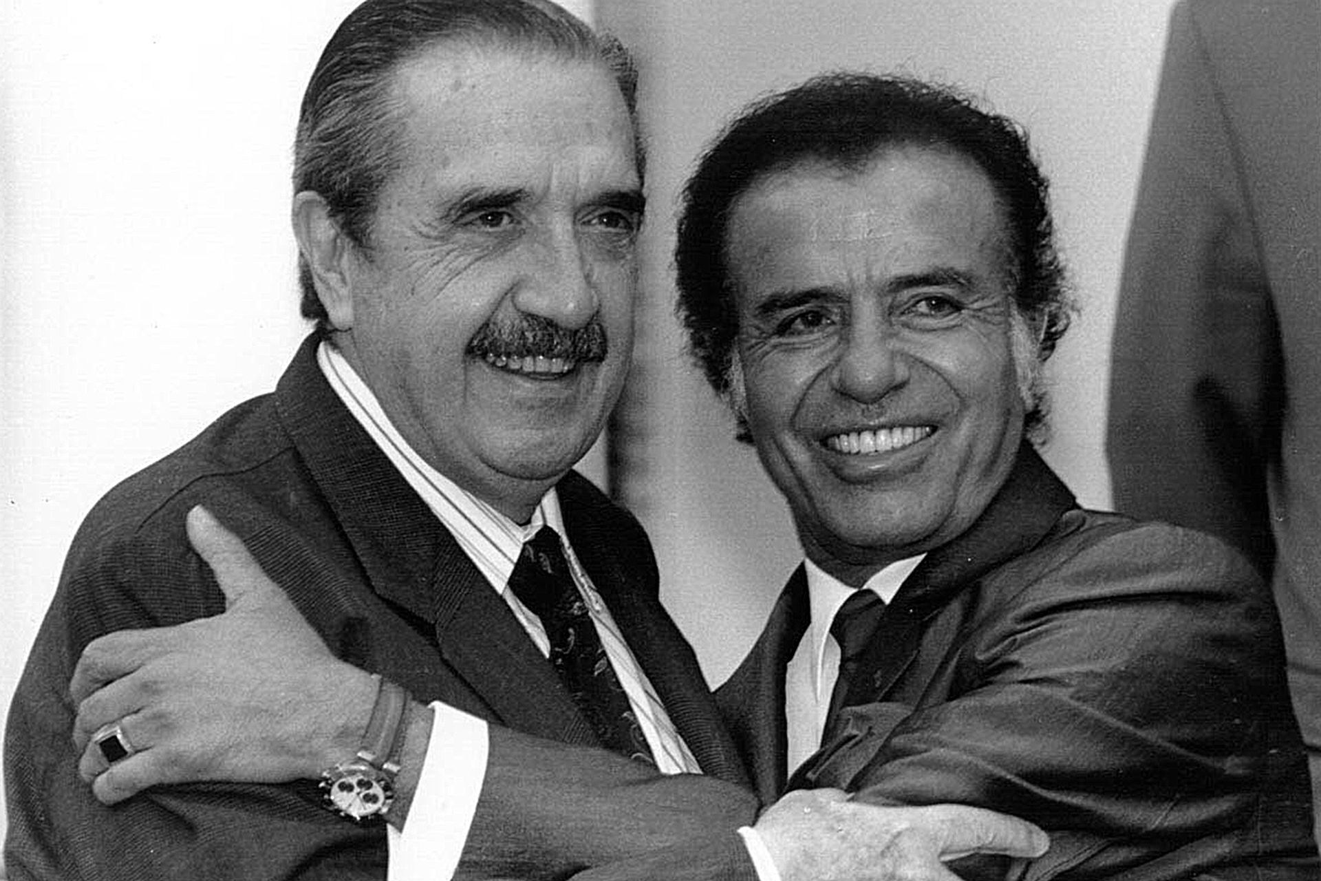 Carlos Saúl Menem y Raúl Alfonsin, el 14 de noviembre de 1993; el Pacto de Olivos empezaba a marcar una nueva etapa política
