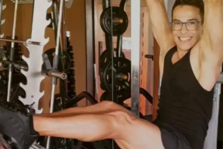 El fitness es uno de los puntos centrales de la rutina de Edson para no envejecer