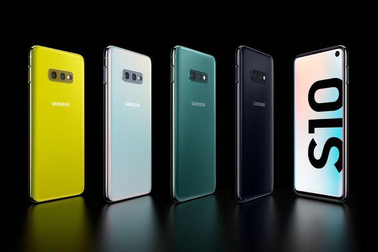 Los colores de la familia Galaxy S10