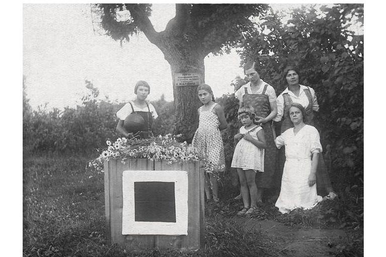 La tumba de Malevich, en las afueras de Moscú