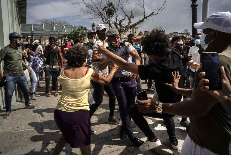 Las protestas contra el régimen cubano, en julio pasado