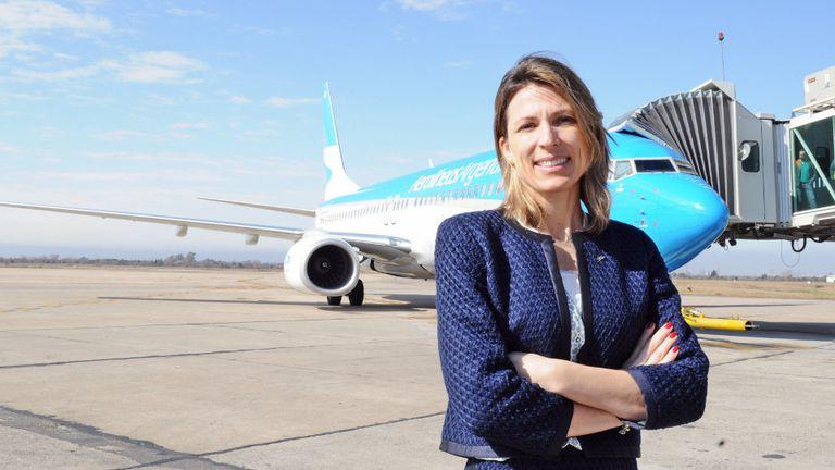 Isela Costantini hizo un balance de los primeros meses de gestión e indicó la empresa cerrará el año con menores pérdidas a las estimadas